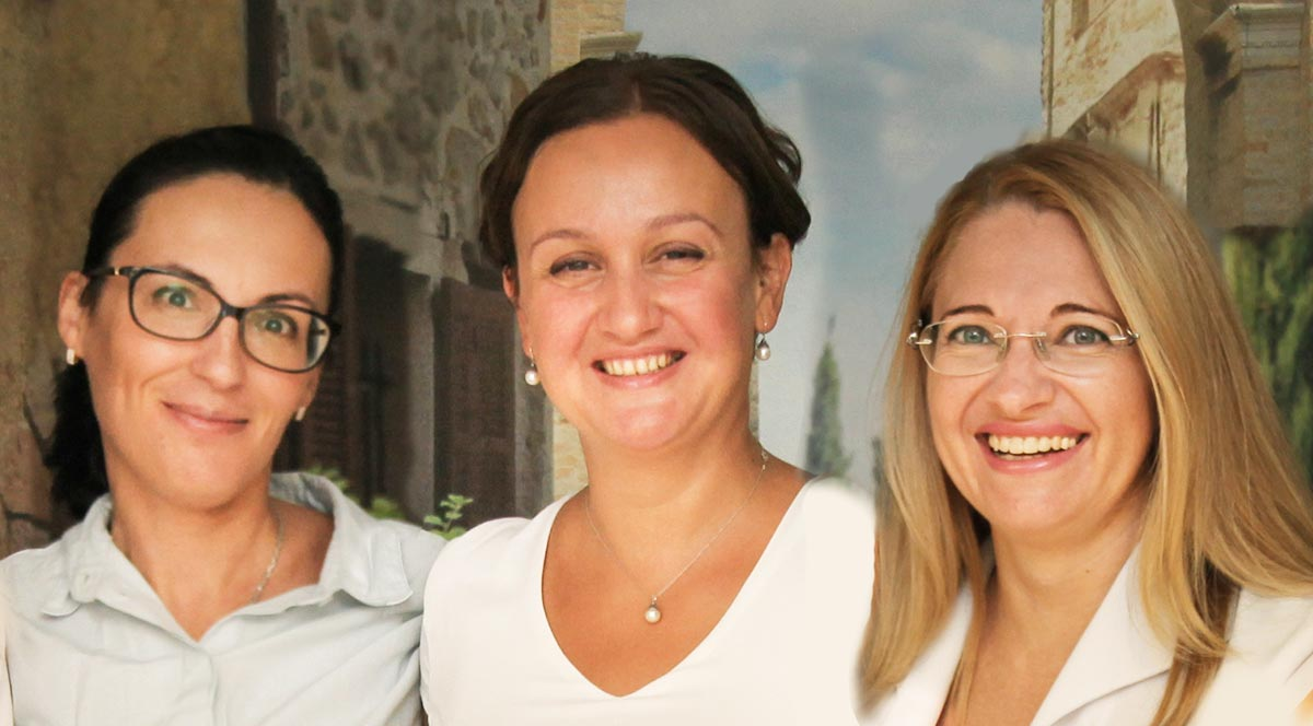 Our leading fertility specialists: Dr. Alena Egorova, Dr. Olga Zaytseff and Dr. Elena Lapina